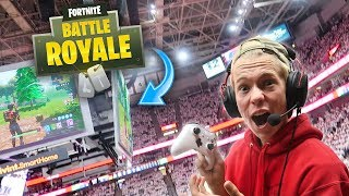 Download Playing FORTNITE in an NBA PLAYOFF ARENA!! *CROWD GOES WILD* Video