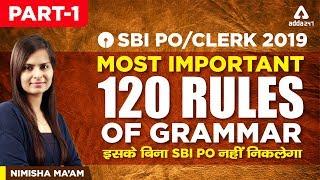 Download SBI PO/CLERK 2019 | Most important 120 Rules Of Grammar | SBI PO Exam | Part 1 | Nimisha Ma'am Video