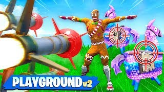 Download PROTECT THE LLAMA vs GUIDED MISSILES! Custom Fortnite Playground v2 Gamemode Video