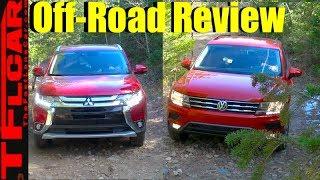 Download 2018 Mitsubishi Outlander vs VW Tiguan vs Gold Mine Hill Off-Road Review Video