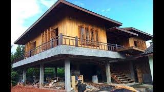 Download บ้านสองชั้นครึ่งปูนครึ่งไม้ ปูนขัดมัน แนวทรงไทยประยุกต์ สวยน่าอยู่ Video