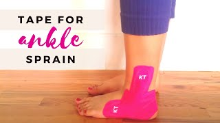 Download KT Tape Tutorial: Ankle Sprain Video