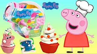 Download Chef PEPPA PIG Makes Cupcake Decorations From Play-doh Playset Video