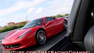 Download Ferrari 458 challenges Turbo Supra on the highway! Video