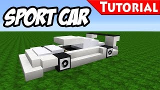 Download Minecraft: Easy Sport - Race Car Tutorial [ Bugatti Veyron Style ] how to make a car 1.8 Video