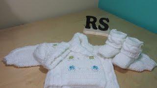 Download Como tejer abrigo de trenzas para bebé recien nacido principiantes Video