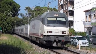 Download Renfe trains in Salou Station, Spain Video
