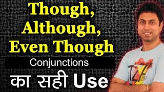 Download Though, Although, Even Though का Use | Learn Use of Conjunctions in English Grammar in Hindi | Awal Video