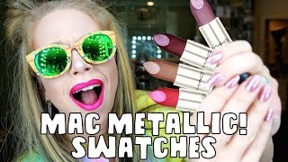 Download NEW MAC METALLIC LIPSTICKS! REVIEW & SWATCHES- ALL 18 SHADES! Video