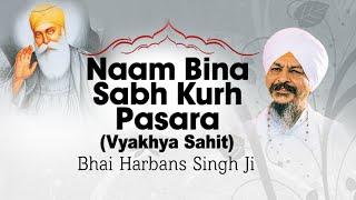 Download Bhai Harbans Singh Ji - Naam Bina Sabh Kurh Pasara (Vyakhya Sahit) - Rondey Gaye Naam Ton Bina Video