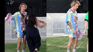 Download Justin Bieber dancing at Coachella with friends Chaz Somers & Josh Mehl - April 13, 2018 Video