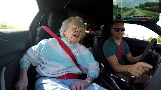 Download Taking 94 Year Old Grandma for a Ride In 650HP Camaro ZL1 Video