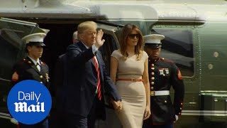 Download President Trump arrives at US ambassador's London residence - Daily Mail Video