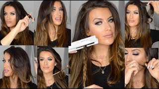 Download How to CURL and WAVE hair using FLAT IRON hair straighteners by Corioliss Video