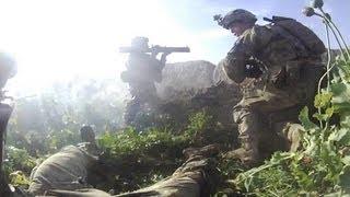 Download Rocket Backblast Sends Soldier Flying Video