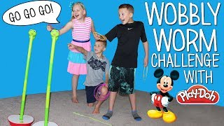 Download Wobbly Worm Challenge - Play Doh & Surprise Toys Race Video