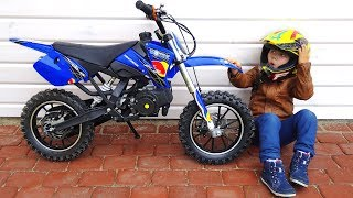 Download Funny BABY Unboxing And Test Drive The Cross Bike - Ride On Mini BIKE POWER WHEEL Pocket Bike Video