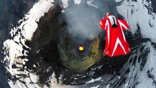 Download GoPro: Roberta Mancino's Wingsuit Flight Over An Active Volcano Video