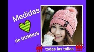Download MEDIDAS para GORROS 2018 😍 (❗️todas las tallas❗️) ✔️❤️ Video