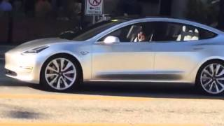 Download SPOTTED: Tesla Model 3 Driving On the Street Video