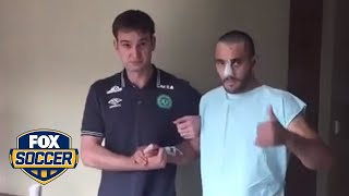Download A Chapecoense player that survived the tragic plane crash is walking on his own | FOX SOCCER Video