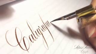 Download Caligrafía Copperplate paso a paso 1- rápido tutorial/descarga plantillas de práctica Video