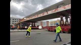 Download FIU Florida Bridge Collapse NO CRACK with GREAT close ups of the north end of Bridge before video Video