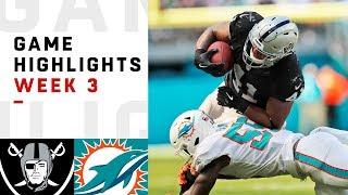 Download Raiders vs. Dolphins Week 3 Highlights | NFL 2018 Video
