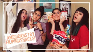 Download AMERICANS TRY FILIPINO SNACKS! Video