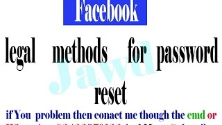Download Facebook password reset without Email And Number 100 % Working Video