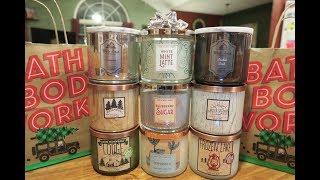 Download Bath & Body Works / White Barn - Holiday 2017 Candle Haul #2 Video