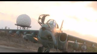 Download Exclusive: Close up of gen 4++ fighter jet SU-30SM in Syria Video