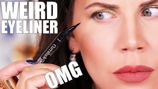 Download WEIRD AF BENT EYELINER ??? ... OMG Video