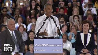 Download WATCH LIVE: Former President Obama campaigns for Democrats in Nevada during a rally in Las Vegas Video