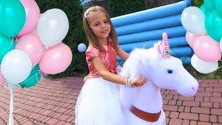 Download День Рождения Насти в стиле ЛОЛ Белый ЕДИНОРОГ PonyCycle в ПОДАРОК Куклы LOL игрушки для детей Video