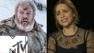 Download Emilia Clarke Reacts To HODOR Game Of Thrones Moment! | MTV Video