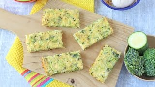 Download Broccoli & Courgette Frittata Fingers | Baby Weaning & Toddler Recipe Video