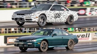 Download TWIN 800+hp Nissan 240SX's - 2JZ and SR20DET Powered! Video