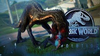Download Jurassic World Evolution - INDORAPTOR ESCAPE!! - Indo VS Giga, Rex, Spino - Fallen Kingdom Gameplay Video