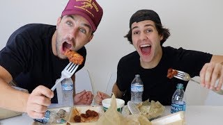 Download EPIC ATOMIC WING MUKBANG FT DAVID DOBRIK, SCOTTY SIRE AND TODDY SMITH Video