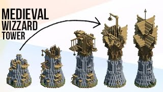 Download Minecraft: HUGE Medieval Fantasy Wizard Tower! Video