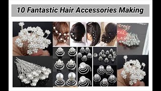 Download 10 Fantastic Hair Accessories Making at home Video