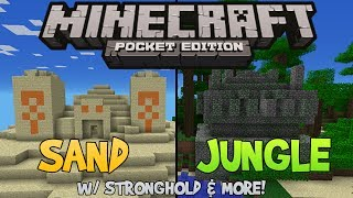 Download Jungle/Sand Temple w/ Ender Stronghold & More! - Minecraft Pocket Edition Video