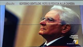 Download L'aria che tira - Governo Gentiloni, voto di fiducia alla Camera (Puntata 13/12/2016) Video