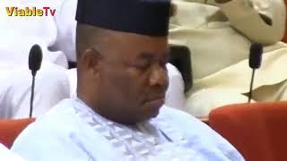 Download FULL VIDEO : PDP, APC Senators Disagree As Saraki Declines Akpabio's Request To Speak Video