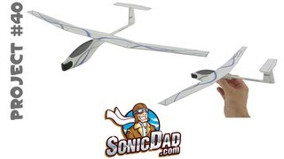 Download How to Make a Glider Airplane from Foam Picnic Plates! SonicDad Project #40 Video