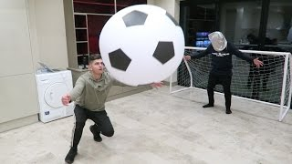 Download INDOOR GIANT FOOTBALL CHALLENGE!! Video