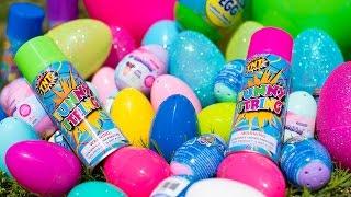 Download HUGE Silly String Easter Egg Hunt Paw Patrol Shopkins Bunny Surprise Eggs for Kids Kinder Playtime Video