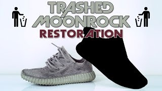 Download Vick Almighty trashes a pair of Adidas Yeezy 350 Moonrocks. Video