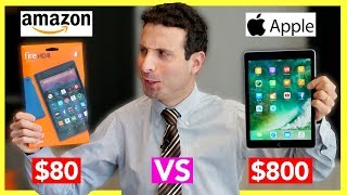 Download $80 Tablet vs $800 Tablet Review (Amazon Fire Tablet VS iPad Pro) Video